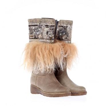 Dziewczęce kozaki z cekinami Missouri 91369  - modne buty dla nastolatki - sklep internetowy euroyoung.pl