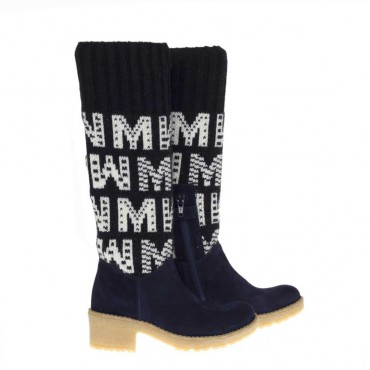 Kozaki dziewczęce skarpety ze wzorem Monnalisa 0056 - oryginalne obuwie dla dzieci - sklep internetowy euroyoung.pl