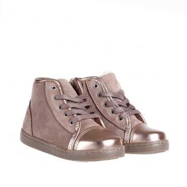 Złote, ocieplone trampki dla dziewczynki Armani Junior Z3530 - ekskluzywne buty dla dzieci - sklep internetowy euroyoung.pl