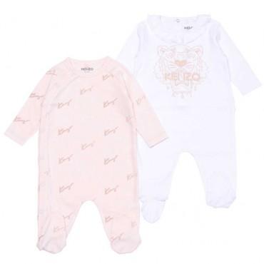 Pajacyki niemowlęce dla dziewczynki Kenzo 004633 - ekologiczne ubranka dla maluszków - sklep internetowy euroyoung.pl