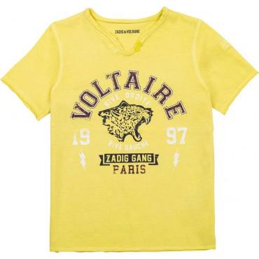 Żółta koszulka dla chłopca Zadig&Voltaire 004638 - ekskluzywna odzież dla dzieci i nastolatków - sklep internetowy euroyoung.pl