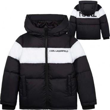 Zimowa kurtka chłopięca Karl Lagerfeld 004643 - ekskluzywne kurtki dla dzieci i nastolatków - sklep internetowy euroyoung.pl
