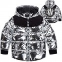 Srebrna kurtka dla dziewczynki DKNY 004644
