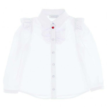 Biała bluzka dla dziewczynki Monnalisa 004647