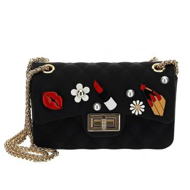 Czarna torebka dla dziewczynki Monnalisa 004653