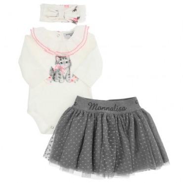 Zestaw niemowlęcy dla dziewczynki Monnalisa 004655 - ekskluzywne ubranka dla niemowląt - sklep euroyoung.pl