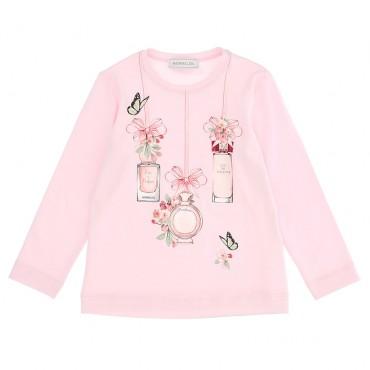Różowa koszulka dla dziewczynki Monnalisa 004656