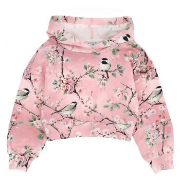 Dziewczęca bluza z kapturem Monnalisa 004657