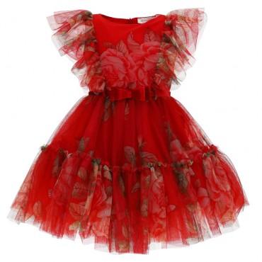 Tiulowa sukienka dla dziewczynki Monnalisa 004658