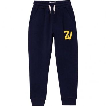 Granatowe spodnie chłopięce Zadig&Voltaire 004660 - ekskluzywne ubrania dla dzieci - sklep online