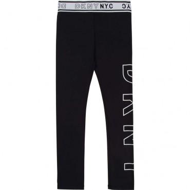 Czarne legginsy dla dziewczyny DKNY 004664 - luksusowe ubrania dla nastolatek - sklep internetiwy euroyoung.pl