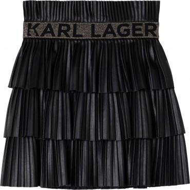 Plisowana spódnica dziewczęca Lagerfeld 004671 - ekskluzywne ubrania dla dzieci i młodzieży - sklep internetowy euroyoung.pl