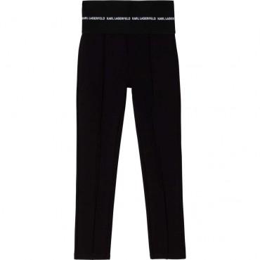Czarne jegginsy dziewczęce Karl Lagerfeld 004672 - ekskluzywne ubrania dla dzieci i młodzieży - sklep internetowy euroyoung.pl