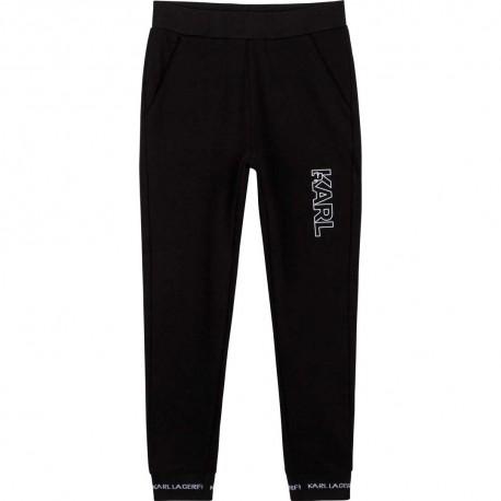 Czarne spodnie dla chłopca Karl Lagerfeld 004676 - ekskluzywne ubrania dla dzieci i nastolatków - sklep online euroyoung.pl