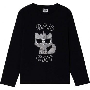 Czarna koszulka dla chłopca Karl Lagerfeld 004677