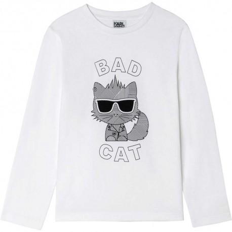 Biała koszulka dla dziecka Karl Lagerfeld 004678 - ekskluzywne ubrania dla chłopców - sklep internetowy euroyoung.pl