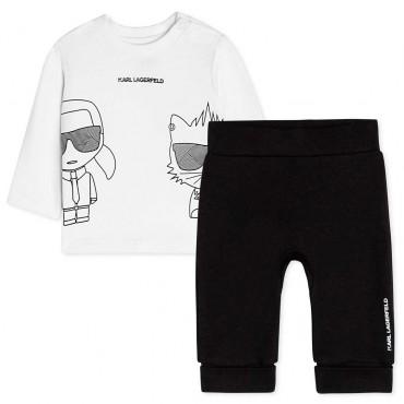 Komplet niemowlęcy dla chłopca Lagerfeld 004681 - ubranka dla noworodków i niemowląt - sklep internetowy