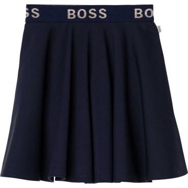Granatowa spódnica dziewczęca Hugo Boss 004685 - ekskluzywne ubrania dla dziewczynek - sklep internetowy euroyoung.pl