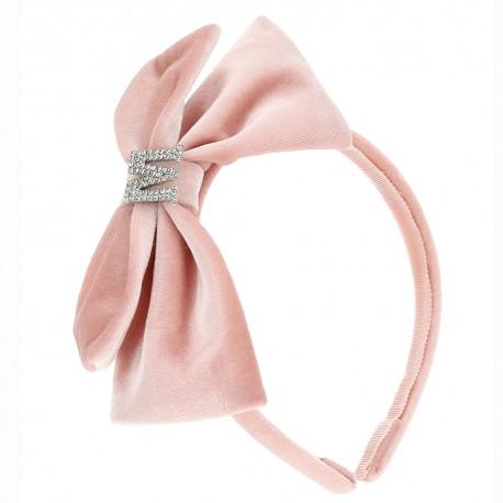 Dziewczęca opaska na włosy z różową kokardą 004694 - oryginalne akcesoria do włosów - sklep internetowy euroyoung.pl
