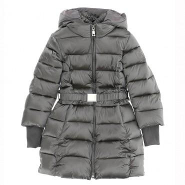 Ciepły płaszcz dla dziewczynki Monnalisa 004698 - ekskluzywne ubrania dla dzieci - sklep internetowy euroyoung.pl