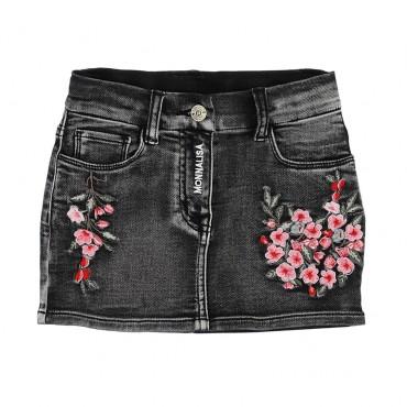 Spódnica mini dla dziewczynki Monnalisa 004700 - ekskluzywne spódnice dla dzieci - sklep euroyoung.pl