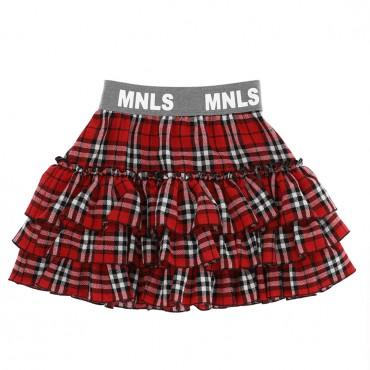 Dziewczęca spódnica w kratę Monnalisa 004703 - ubrania i buty dla dzieci i nastolatek - sklep internetowy euroyoung.pl