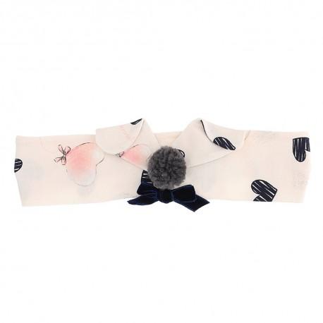 Opaska niemowlęca z dzianiny Monnalisa 004708 - ekskluzywne ubranka dla niemowląt i małych dziewczynek - sklep euroyoung.pl