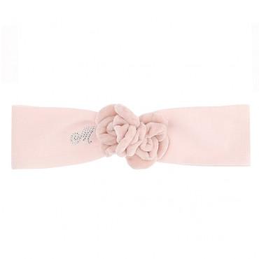 Niemowlęca opaska na włosy w różu Monnalisa 004709 - ekskluzywna odzież, obuwie i akcesoria dla niemowląt