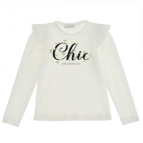 Koszulki dla dziewczynek Monnalisa Chic 004712 - ubrania dla dzieci - sklep internetowy euroyoung.pl