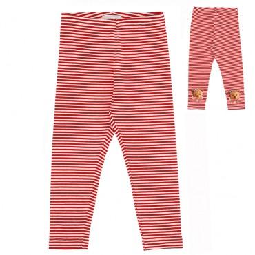 Dziewczęce legginsy w paski Monnalisa 004713 - ekskluzywna odzież i obuwie dla dzieci - sklep internetowy euroyoung.pl