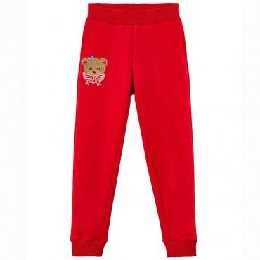 Czerwone spodnie dziewczęce Monnalisa 004715 - ekskluzywne ubrania dla dzieci - sklep euroyoung.pl