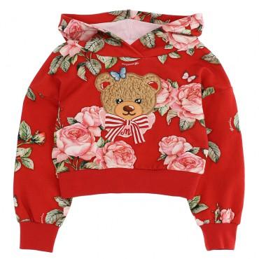 Dziewczęca bluza w kwiaty Monnalisa 004716 - ekskluzywne ubranka dla dzieci - sklep euroyoung.pl
