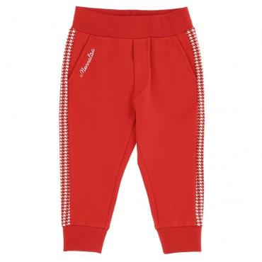 Czerwone spodnie niemowlęce dla dziewczynki 004719 - ekskluzywne ubranka dla niemowląt - sklep internetowy euroyoung.pl