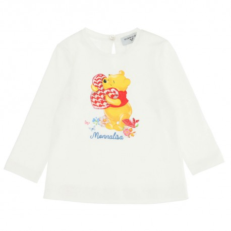 Bluzka niemowlęca dla dziewczynki Monnalisa 004720 - ekskluzywna odzież dla niemowląt - sklep internetowy euroyoung.pl