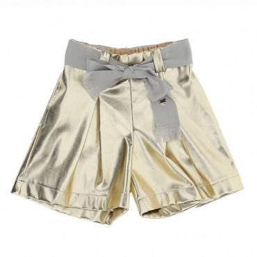 Złote szorty dla dziewczynki Monnalisa 004725 - ekskluzywne ubrania glamour dla dzieci - sklep internetowy euroyoung.pl