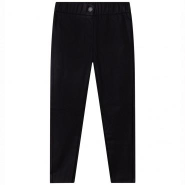 Dziewczęce spodnie z czarnej ekoskóry Z&V 004732 - ekskluzywne ubrania dla dzieci i młodzieży - sklep euroyoung.pl