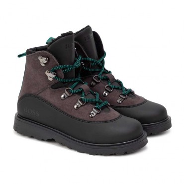 Zimowe buty dla chłopca Hugo Boss 004736 - ekskluzywne obuwie dla dzieci - sklep internetowy euroyoung.pl