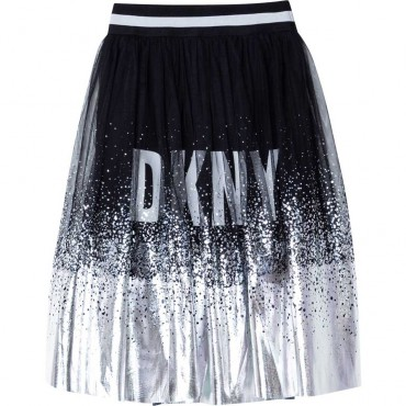 Srebrna spódnica dla dziewczynki DKNY 004740 - oryginalne ubrania dla dziewczynek - sklep internetowy euroyoung.pl