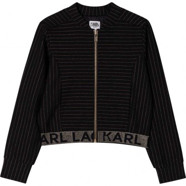 Bluza dla dziewczynki Karl Lagerfeld 004741 - ekskluzywne bluzy dla dzieci i młodzieży - sklep internetowy euroyoung.pl
