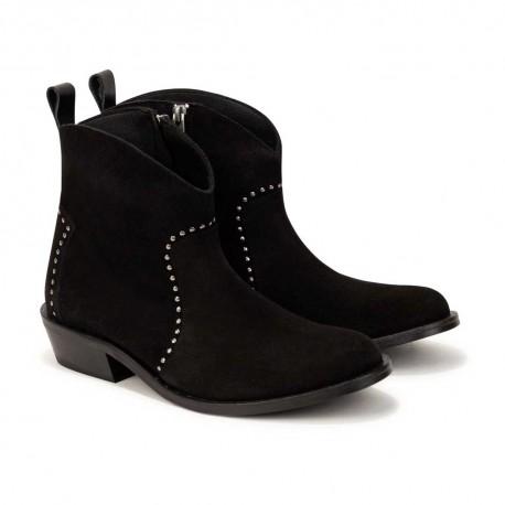 Czarne botki dla dziewczynki Zadig&Voltaire 004746 - ekskluzywne obuwie dla dzieci i młodzieży - sklep internetowy euroyoung.pl