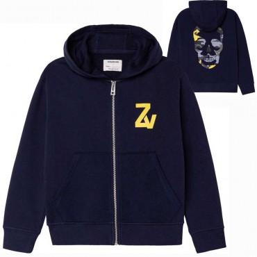 Bluza chłopięca z czaszką Zadig&Voltaire 004747 - ekskluzywne bluzy dla dzieci i nastolatków - sklep euroyoung.pl