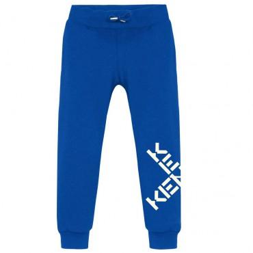 Niebieskie spodnie dla chłopca Kenzo 004755 - ekskluzywne ubrania dla dzieci i niemowląt - sklep internetowy euroyoung.pl