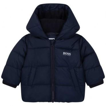 Granatowa kurtka dla niemowlęcia Hugo Boss 004765 - ekskluzywne ubranka dla niemowląt i małych chłopców - sklep internetowy euro