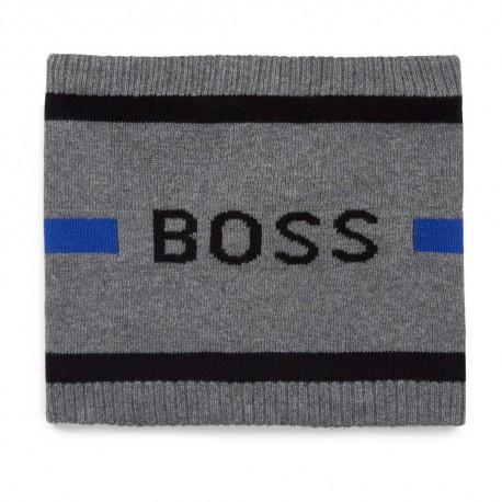 Komin niemowlęcy dla chłopca Hugo Boss 004768 - ekskluzywne szaliki i kominy chłopięce - sklep internetowy dla dzieci euroyoung.
