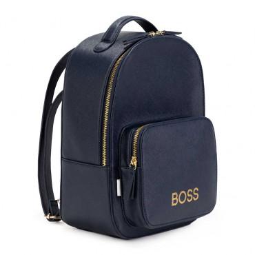 Granatowy plecak dla dziewczynki Hugo Boss 004773 - szkolne torby i plecaki dla dzieci - internetowy sklep euroyoung.pl