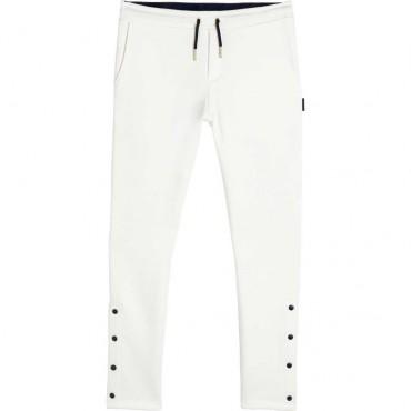 Spodnie dziewczęce offwhite Hugo Boss 004775 - ekskluzywne ubrania dla dzieci i młodzieży - sklep internetowy z odzieżą euroyoun