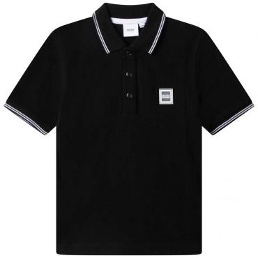 Czarne polo dla chłopca Hugo Boss 004781