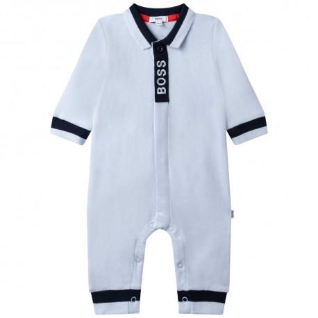 Pajacyk niemowlęcy dla chłopczyka Hugo Boss 004792 - ekskluzywne ubranka niemowlęce - sklep internetowy euroyoung.pl