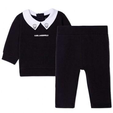 Komplet niemowlęcy Karl Lagerfeld 004803 - ekskluzywne ubranka dla niemowląt dziewczynek - sklep internetowy euroyoung.pl