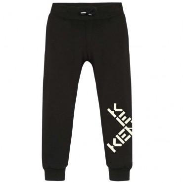 Czarne spodnie chłopięce Kenzo Kidswear 004807 - ekskluzywne ubrania dla dzieci i młodzieży - sklep odzieżowy euroyoung.pl